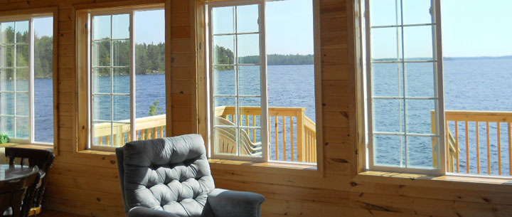 view from cabin living room